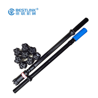 Round Shaped Hardened Drill Rod , Threaded Steel Drill Rod Customized Size
