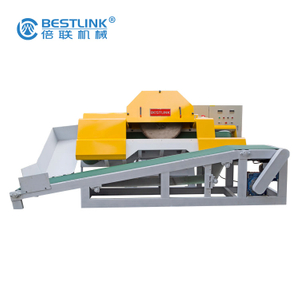Automatic Thin Veneer Stone Saw Cutting Machine with conveyor belt