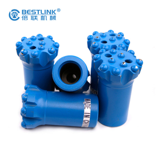 T38 76mm Thread Button Drill Bits Long Primary Drilling Time For Bench Drilling