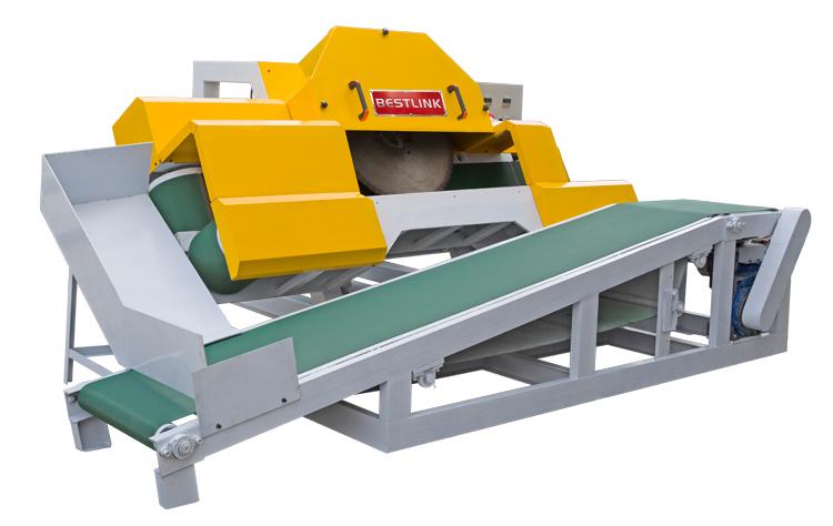Thin stone veneer saw cutting machine