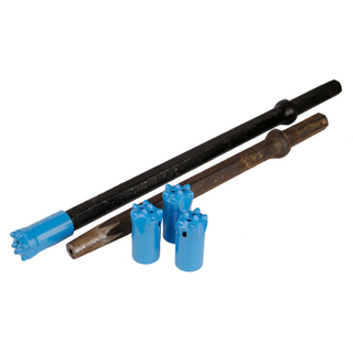 Shank Hex 22X108mm 25X108mm 4/6/7/11/12degree Stone Rock Drilling Tools Tapered Drill Steel Bar Rod